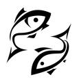 Logo-like fish symbol isolated icons set vector