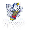 Fairy tale boy butterfly vector