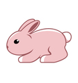 Cute easter rabbit vector