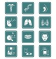 Medicine icons  teal series vector