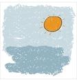 Sea waves and rising sun vector