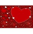 Hearts background design vector