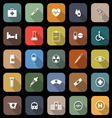Medical flat icons with long shadow vector