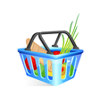 Basket with food vector