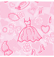 Fashion seamless pattern with accessories vector