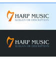 Celtic music logo vector