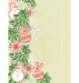 Christmas background with paper decorations vector
