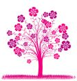 Tree spring background vector