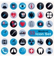 Set of round medical icons vector
