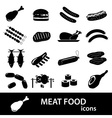 Meat food icons and symbols set eps10 vector