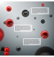Abstract 3d spheres infographics vector