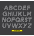Font italic stripes vector