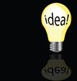 Idea bulb in yellow color vector