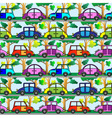 Cartoon car seamless pattern vector