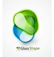 Abstract glass shapes vector