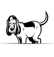 Funny cartoon dog vector