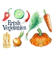 Gardening logo design template fresh food vector