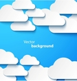 Paper clouds banner with drop shadows vector