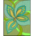 Floral fantasy background vector