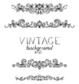 Set of vintage ornate elements for page decoration vector