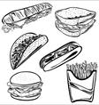 Fast food set b vector