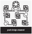 Peach design ornament vector