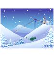 Ski resort background vector