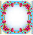 Square frame background with flowering vector