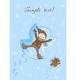 Snow angel xmas card vector