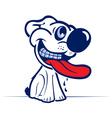 Cartoon dog smile face in vector