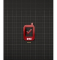 Mobile phone black technology design vector