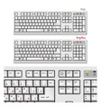 White computer keyboards vector