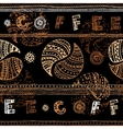Coffee background in ethnical style vector