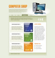 Computer shop web page template detailed vector