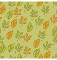 Seamless texture with fall hand drawn leaves vector