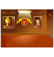 Sports trophy cabinet vector