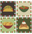 Mexican food decorations vector