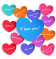 Set of paper hearts vector