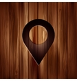 Map pointer icon location symbol wooden texture vector