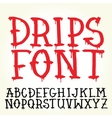 Graffiti font with paint drips vector