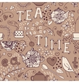 Seamless pattern - tea time vector