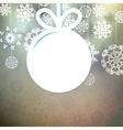 Snowflakes and space for text plus eps10 vector