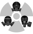 Gas masks and radiation sign vector