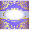 Background with gold ornaments vector