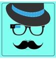 Hipster wearing smart glasses vector