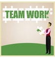 Puzzle teamwork vector