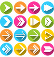 Arrow symbols icons set vector