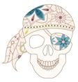 Retro skull vector