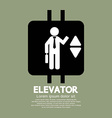 Elevator graphic symbol vector