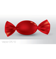 Red oval candy package for new design vector